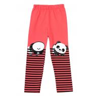 """12-37602-4 """"Panda"""" Лосины для девочки, 3-7 лет, красный"""