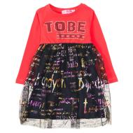 12-37910 Платье для девочки, 2-6 лет, красный