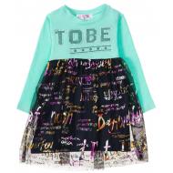 12-37912 Платье для девочки, 2-6 лет, ментол
