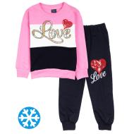 """12-6988203-3 """"Love"""" Костюм для девочки, 6-9 лет, розовый"""