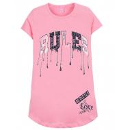 """12-8110806-3 """"Rules"""" Туника для девочки, 8-11 лет, розовый"""