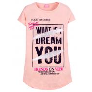 """12-8110807-1 """"Dream"""" Туника для девочки, 8-11 лет, коралловый"""