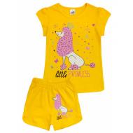 20-005208 Костюм для девочки, 4-8 лет, желтый