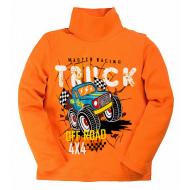 """20-007103 """"Truck"""" Водолазка для мальчика, 1-4 года, оранжевый"""