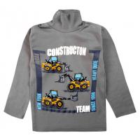 """20-007105 """"Construction"""" Водолазка для мальчика, 1-4 года, т-серый"""