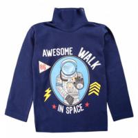 "20-007107 ""Space"" Водолазка для мальчика, 1-4 года, т-синий"