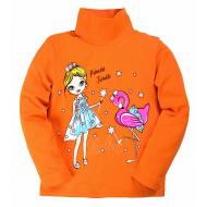 """20-007201 """"Девочка"""" Утепленная водолазка для девочки, 1-4 года, оранжевый"""