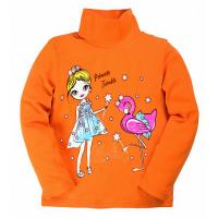"""20-007201 """"Девочка"""" Водолазка для девочки, 1-4 года, оранжевый"""