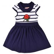 20-10251 Платье для девочки, 2-6 лет, т-синий