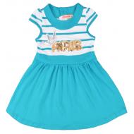20-10253 Платье для девочки, 2-6 лет, бирюзовый