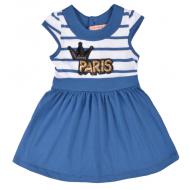 20-10254 Платье для девочки, 2-6 лет, синий