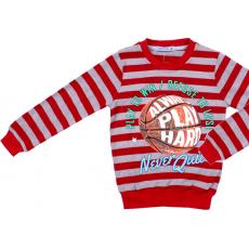 20-1128101 Джемпер для мальчика, 5-8 лет, полоса\оранжевый