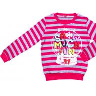 20-1128204 Джемпер для девочки, 5-8 лет, полоска/розовый