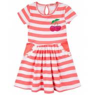 """020-117302 """"Полоска"""" Платье для девочки, 2-5 лет, розовый"""