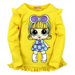 20-124904 Кофта для девочки, 2-5 лет, желтый