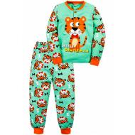 """20-125111 """"Tiger"""" Пижама утепленная для мальчика, 2-6 лет, ментол"""