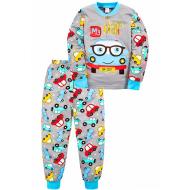 """20-125115 """"My Car"""" Пижама утепленная для мальчика, 2-6 лет, серый"""
