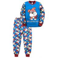 """20-125112 """"Dog"""" Пижама утепленная для мальчика, 2-6 лет, т. синий"""