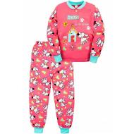 "20-125122 ""Sweet Home"" Пижама утепленная для девочки, 2-6 лет, розовый"