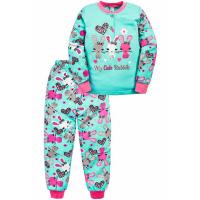 """20-125121 """"Rabbit"""" Пижама утепленная для девочки, 2-6 лет, ментоловый"""