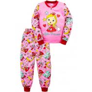 """20-125125 """"Princess"""" Пижама утепленная для девочки, 2-6 лет, розовый"""