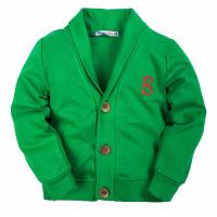 20-125404k Кардиган для мальчика, 5-8 лет, зеленый