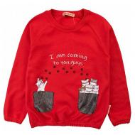 20-12633 Джемпер для девочки, 2-6 лет, красный