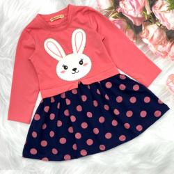 20-12672 Платье для девочки из фуллайкры, 2-6 лет, розовый