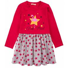 20-12681 Платье для девочки из фуллайкры, 3-7 лет, красный