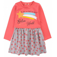 20-12683 Платье для девочки из фуллайкры, 3-7 лет, персик