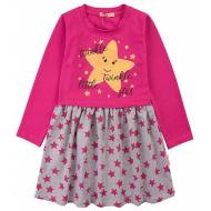 20-12685 Платье для девочки из фуллайкры, 3-7 лет, малиновый