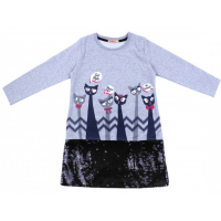 20-12692 Платье для девочки, фуллайкра, 5-8 лет, меланж