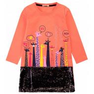 20-12693 Нарядное платье для девочки, 5-8 лет, коралл