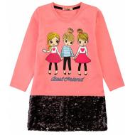 20-12694 Нарядное платье для девочки, 5-8 лет, розовый