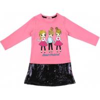 20-12694 Платье для девочки, фуллайкра, 5-8 лет, розовый