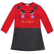 20-12703 Платье для девочки, 3-7 лет, красный