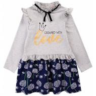 20-12721 Платье для девочки из фуллайкры, 3-7 лет, меланж