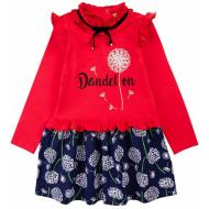 20-12722 Платье для девочки из фуллайкры, 3-7 лет, красный
