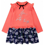 20-12725 Платье для девочки из фуллайкры, 3-7 лет, арбузный