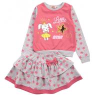 20-12733 Костюм с юбкой для девочки, 2-6 лет, розовый