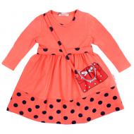 20-12752 Платье для девочки, 2-6 лет, коралловый