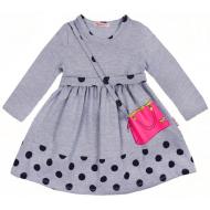 20-12753 Платье для девочки из фуллайкры, 2-6 лет, серый