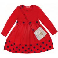 20-12751 Платье для девочки из фуллайкры, 2-6 лет, красный