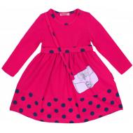 20-12754 Платье для девочки из фуллайкры, 2-6 лет, малиновый