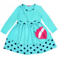 20-12755 Платье для девочки из фуллайкры, 2-6 лет, ментоловый