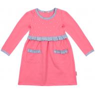 20-12762 Платье для девочки, фуллайкра, 5-8 лет, розовый