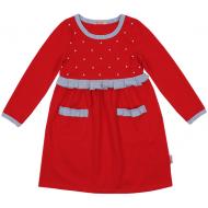 20-12763 Платье для девочки, фуллайкра, 5-8 лет, красный