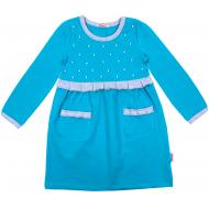 20-12764 Платье для девочки, фуллайкра, 5-8 лет, бирюзовый