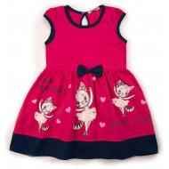 20-13391 Платье для девочки, 3-7 лет, фуксия