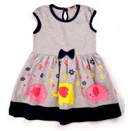 20-13394 Платье для девочки, 3-7 лет, меланжевый